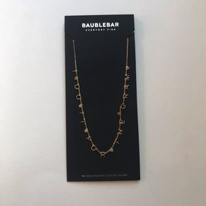 Baublebar Necklace NWT I Do It For The Gram Spell